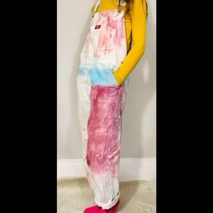 Custom dyed Dickie's Utility Overalls